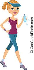 Active woman exercising