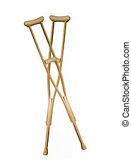 adjustable crutches on a white background
