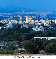Aerial view of Paphos, Cyprus