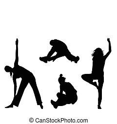 Aerobic silhouette