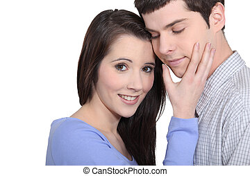 Affectionate young couple