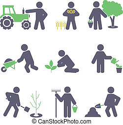 Agriculture. Set icons for you design