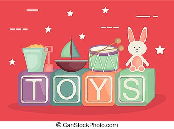 alphabetic blocks with baby toys