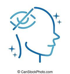 alzheimers disease neurological brain vision problems gradient line icon
