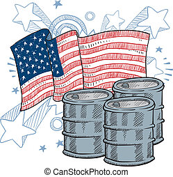 American oil dependence sketch