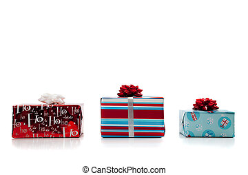 assorted Christmas presents