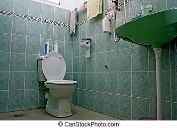 An Ordinary Bathroom Cum Toilet