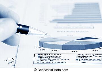 Analysis of stock market reports.