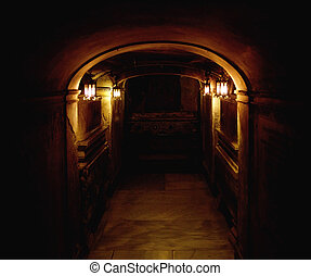 Picture presneting an ancient basement