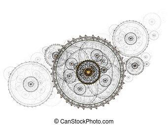 Ancient mechanism, metallic clockwork