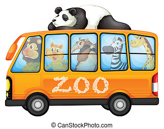 Animals on bus