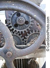 Antique machine gears