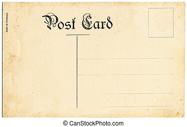 The backside of an old postcard from the early 20th century.