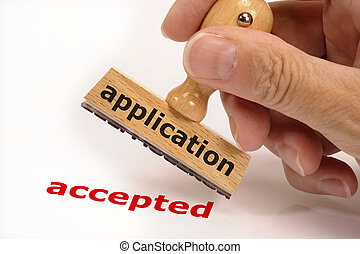 rubber stamp marked with application and copy accepted