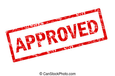 Approved red stamp