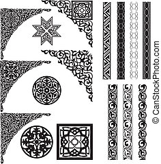 Arabic decor on white corners and dividers