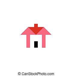 arrows house home icon logo vector real estate symbol
