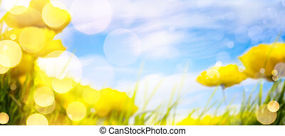 art spring background
