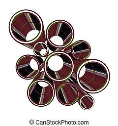 Creative design of art tubes