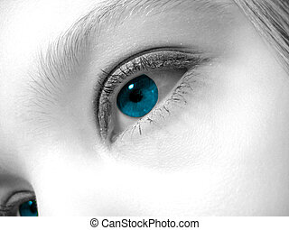 Artistic shot of a woman's eye