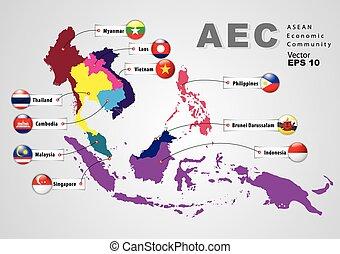 ASEAN Economic Community, AEC (map)