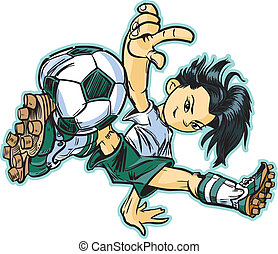 Asian Break Dancing Soccer Girl