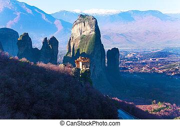 Astonishing view on Holy Monastery of Rousanou