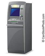 atm vector illustration isolated on white background