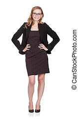 Attractive Businesswoman Standing With Hands On Hips