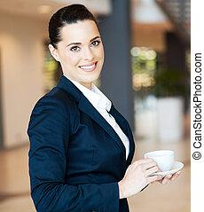 attractive modern businesswoman