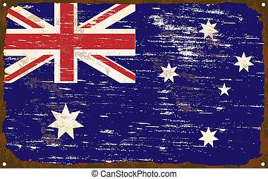 Australian Flag Enamel Sign