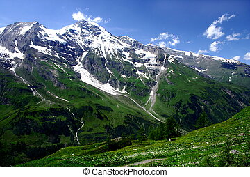 A panoramic view of beautifull Austrian mountains