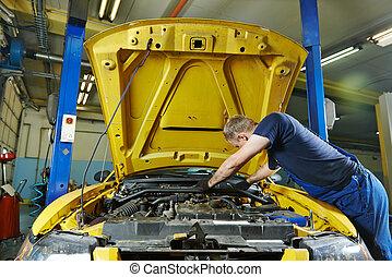 auto mechanic repairman at work