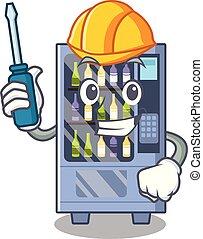 Automotive wine vending machine mascot shaped character