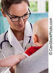 Baby at pediatrician