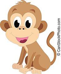Baby monkey, illustration