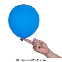 Balloon in hand