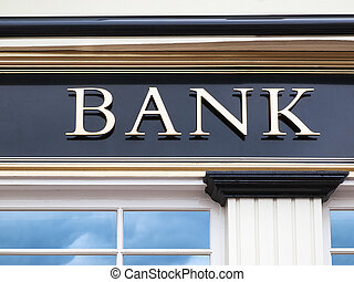 Detail of a bank building