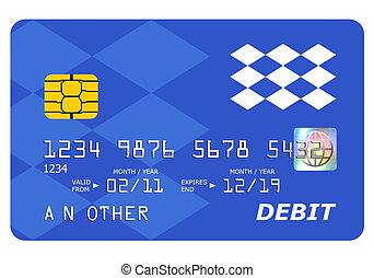 Everything on this mock debit card including the hologram has been designed by myself, the number and name is generic.