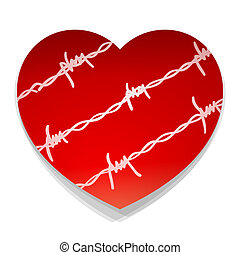 Barbwire Love Heart