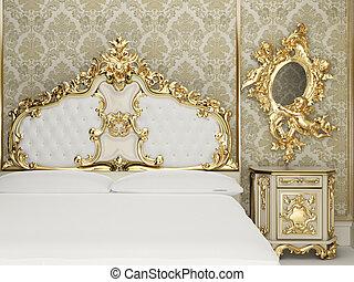 Baroque bedroom suite in royal interior