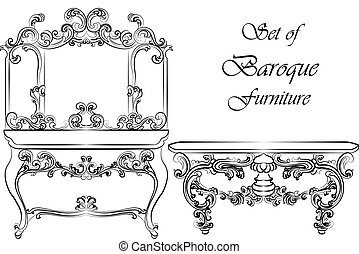 Baroque Royal luxury style furniture