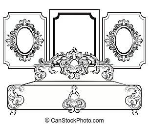 Baroque royal set of furniture