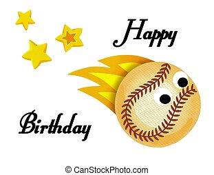 Beautiful baseball happy birthday card