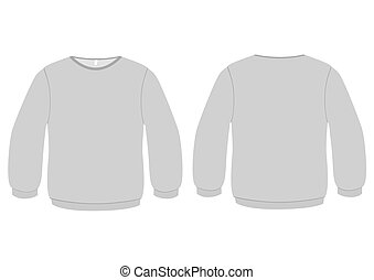 Vector illustration of a blank basic sweater. All objects and details are isolated. Colors and transparent background color are easy to adjust.