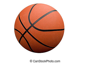 Basketball isolated over a white background with a clipping path
