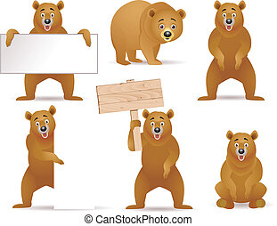 Bear artoon collection