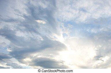 Beautiful cloudy sky