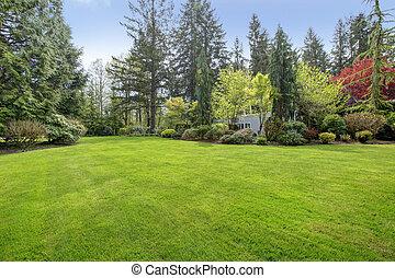 Beautiful farm house backyard