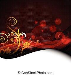 beautiful floral artwork vector design